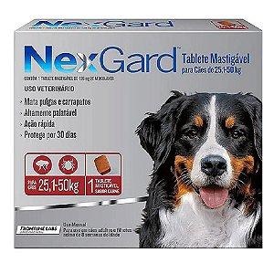 Nexgard Antipulgas E Carrapatos Cães 25 A 50kg - 1 tablete