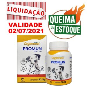Organnact Promun Dog Tabs 52,5g 30 Tabletes LIQUIDAÇÃO
