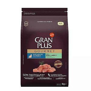 Ração Gran Plus Gourmet Gatos Castrados Peru e Arroz 3kg