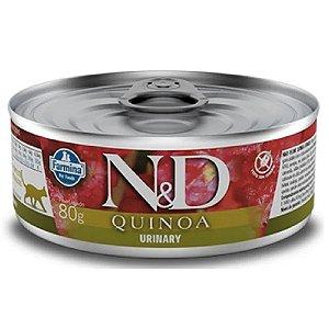 Ração Úmida N&D Lata Gatos Quinoa Urinary 80g - Farmina