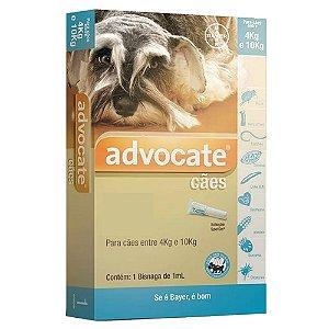Advocate Cães 4 A 10kg Antipulgas e Carrapatos 1,0ml