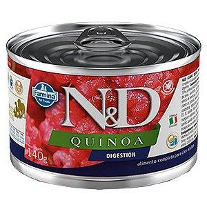 Ração Úmida N&D Lata Cães Quinoa Digestion Cordeiro 140g