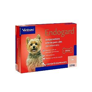 Vermífugo Endogard Cães Até 2,5kg - 6 Comprimidos - Virbac