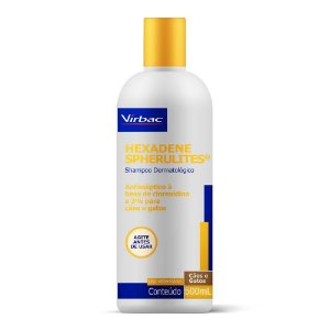 Shampoo Hexadene Spherulites 500ml Fungos e Bactérias- Virbac