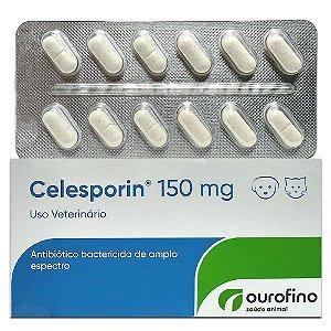 Antibiótico Celesporin 150mg - 12 Comprimidos Cartela Avulsa + Bula - Ourofino