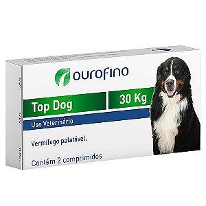 Vermífugo Com Sabor Top Dog 30kg 2 Comprimidos - OuroFino