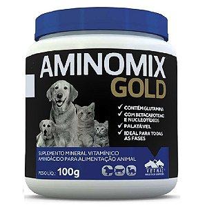 Suplemento Vitamínico Aminomix Gold 100g - Vetnil