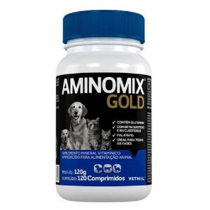 Suplemento Vitamínico Aminomix Gold 120 Comprimidos - Vetnil