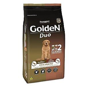 Ração Premium Especial Golden Fórmula Duo Cães Adultos Sabor Frango e Seleção de Carnes Raças Médias e Grandes 15kg - PremierPet