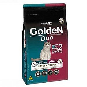 Ração Premium Especial Golden Gatos Duo Adultos Sabor Cordeiro e Salmão 3kg - PremierPet
