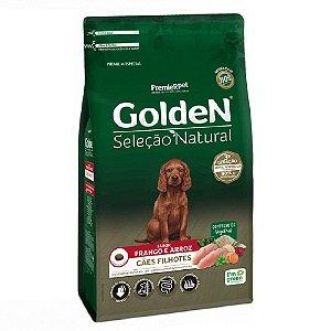 Ração Premium Especial Golden Cães Seleção Natural Filhotes Raças Médias e Grandes Sabor Frango e Arroz 15kg - PremierPet