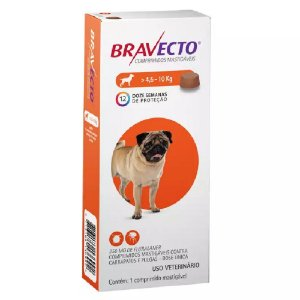 Bravecto Cães 4,5 A 10kg - Antipulgas e Carrapatos