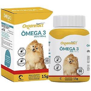 Suplemento Vitamínico Organnact Ômega 3 500 dog  30 cápsulas