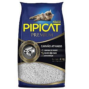 Areia Higiênica Pipicat Premium Carvão Ativado 4kg