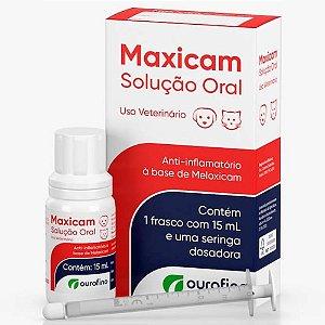 Anti-Inflamatório Maxicam Solução Oral 15ml - Ourofino