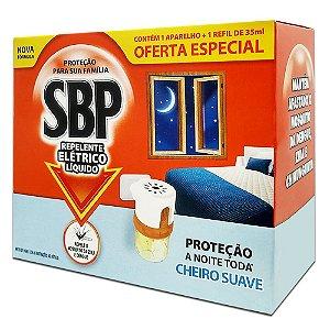 Repelente Elétrico SBP 45 Noites Aparelho + Refil Suave