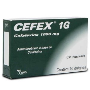 Antimicrobiano CEFEX 1g 10 comprimidos - Cepav