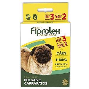 Antipulgas Ceva Fiprolex Para Cães Até 10kg Pague 2 Leve 3