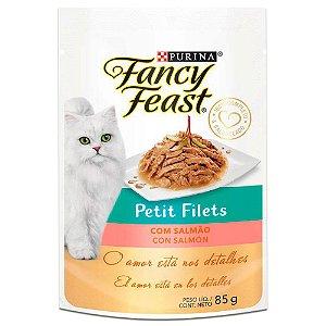 Ração Úmida Fancy Feast Sachê Gatos Adultos Petit Filets Sabor Salmão 85g - Purina