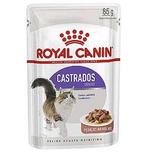 Ração Úmida Royal Canin Gatos Castrados Sachê Sterilised Wet 85g