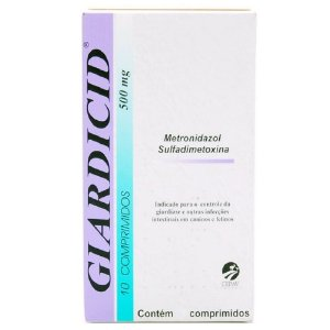 Antibiótico Giardicid 500mg 10 Comprimidos - Cepav