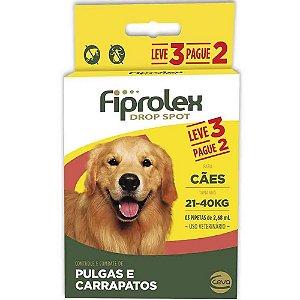 Fiprolex Cães 21kg a 40kg Leve 3 Pague 2 - Ceva