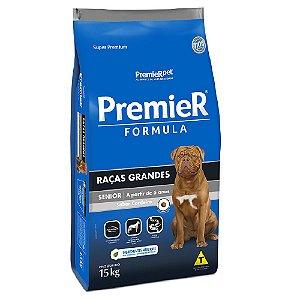 Ração Super Premium Premier Fómula Cães Sênior Raças Grandes Sabor Cordeiro 15kg - PremierPet