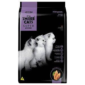 Ração Three Cats Super Premium Gatos Filhotes Sabor Frango 3kg - Hercosul