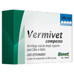 Vermífugo Vermivet Composto 10kg 4cps - Biovet