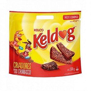 Petisco Keldog Bifinho Cães Sabor Churrasco 500g - Kelco
