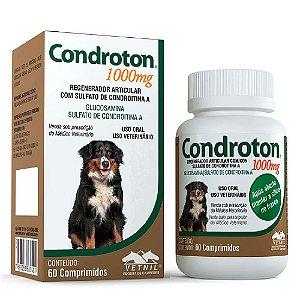 Regenerador Articular Condroton 1000mg 60 Comprimidos com Sulfato de Condroitina - Vetnil