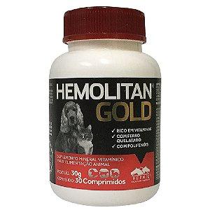 Suplemento Vitamínico Hemolitan Gold 30 Comprimidos - Vetnil
