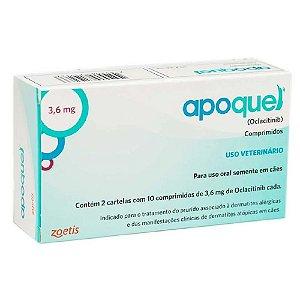 Tratamento da Coceira Apoquel 3,6Mg 20cps - Zoetis