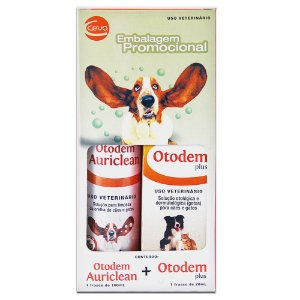 kit Otodem Auriclean 100ml + Otodem Plus 20ml - Ceva
