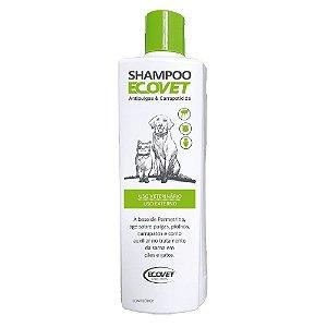 Shampoo Antipulgas e Carrapaticida Cães e Gatos 250ml - Ecovet