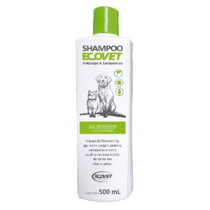 Shampoo Antipulgas e Carrapaticida Cães e Gatos 500ml - Ecovet