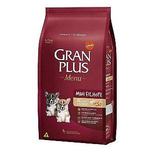 Ração Gran Plus Menu Cães Filhotes Mini Frango Arroz 1kg