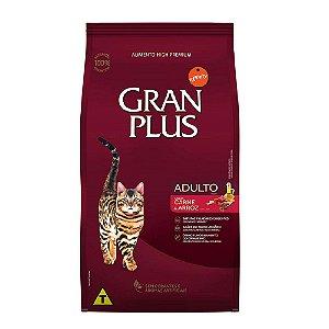 Ração Gran Plus Gatos Adulto Carne e Arroz 3kg