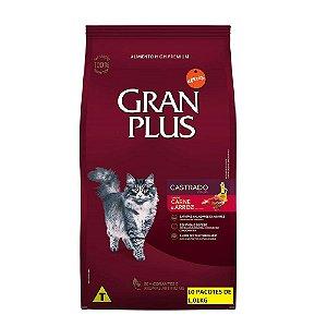 Ração Gran Plus Gato Castrados Carne 10 Pacotes de 1kg cada