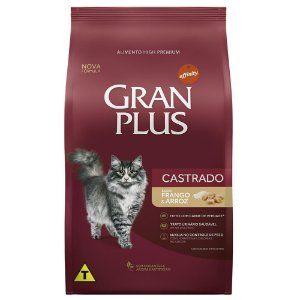 Ração Gran Plus Gato Adultos Castrados Frango e Arroz 10,1kg