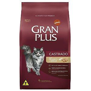 Ração Gran Plus Gato Adultos Castrados Frango e Arroz 3kg
