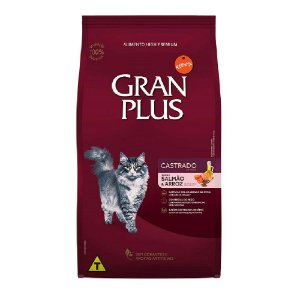 Ração Gran Plus Gato Adultos Castrados Salmão e Arroz 10,1kg