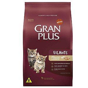 Ração Gran Plus Gato Filhotes Frango e Arroz 3kg