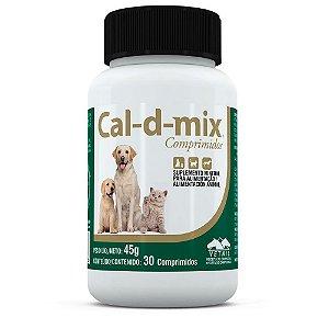 Suplemento Mineral Cal-d-mix 30 Comprimidos - Vetnil