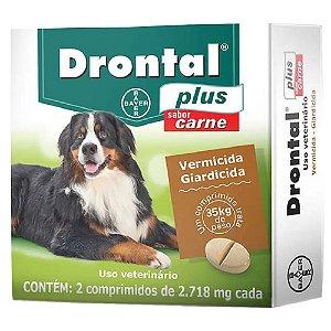 Drontal Plus 35kg Sabor Carne 2 Comp -Bayer