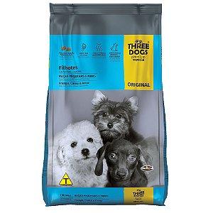 Ração Three Dogs Original Filhotes Raças Pequenas e Minis Frango, Carne e Arroz 1kg - Hercosul