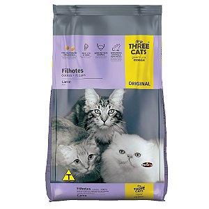 Ração Three Cats Original Gatos Filhotes Sabor Carne 1kg - Hercosul