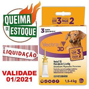 Vectra 3D Cães 1,5 A 4KG pague 2 leve 3 - Liquidação