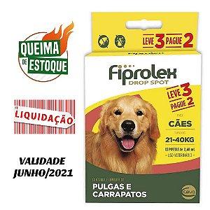 Fiprolex Cães 21kg a 40kg Leve 3 Pague 2 Ceva - Liquidação