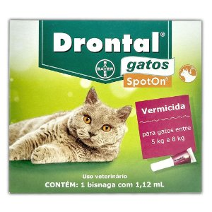 Drontal Gatos SpotOn 5kg a 8kg (1,12 ml) - Bayer